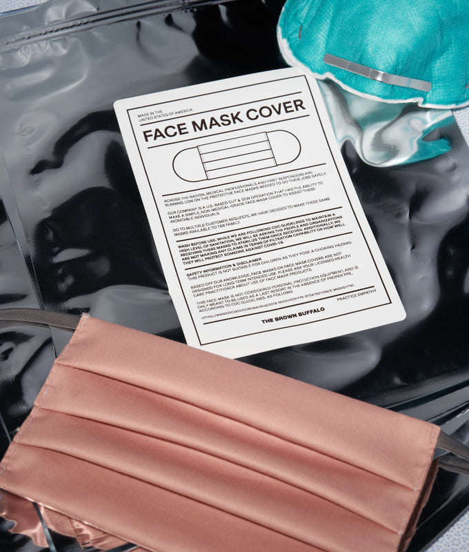 Face Mask Cover - Black Twill