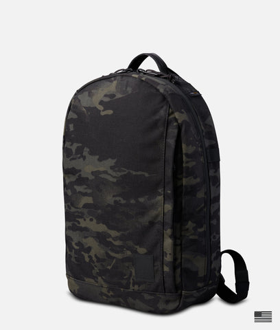 Brown Buffalo Conceal Pack Backpack StormProof Nylon  Orange Reflective NEW