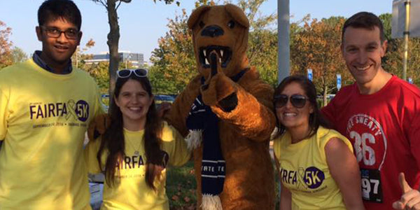 penn state nittany lion at fairfax 5k