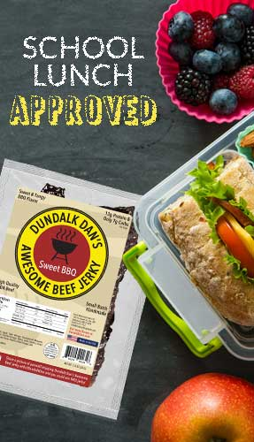 Dundalk Dan's Awesome Beef Jerky Multi-Pack Snack Pack School Lunch