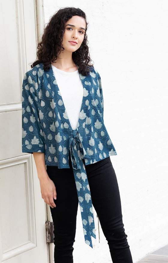 Wrap Top in Akola Leaf