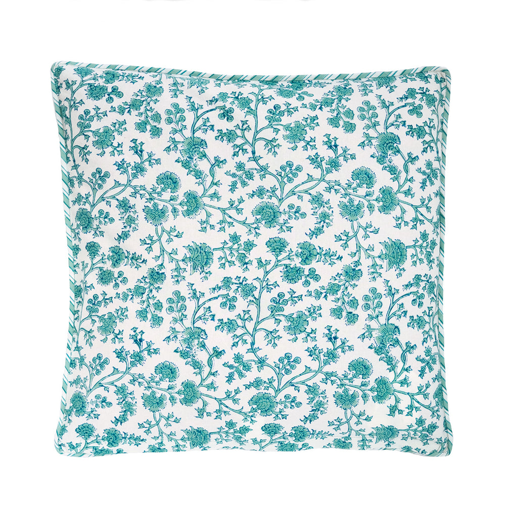 Cushion Covers in Aqua Palace