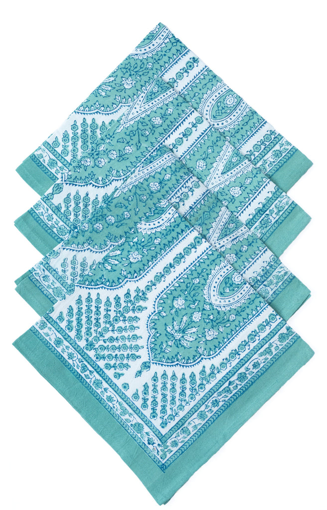 Table Linens in Aqua Palace