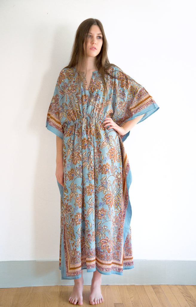 Drawstring Kaftan in Autumn Dusk