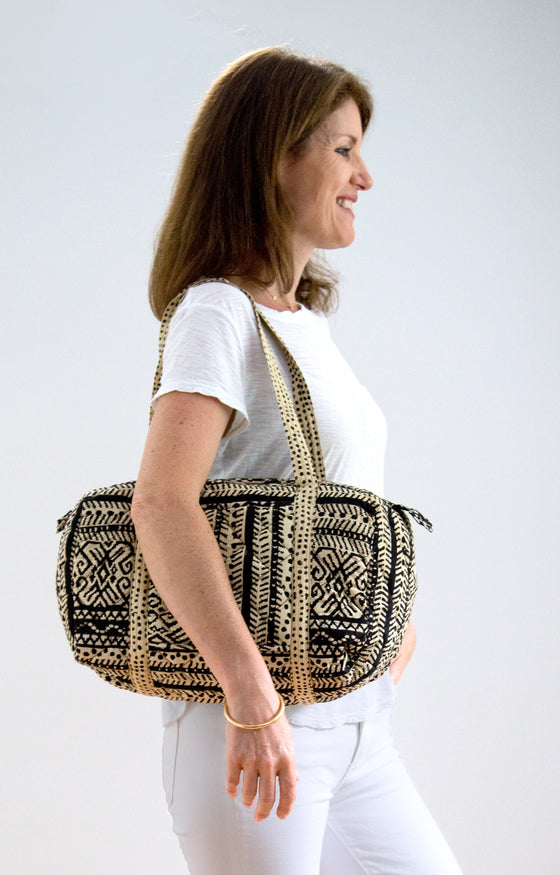 Weekend Bag in Basketweave
