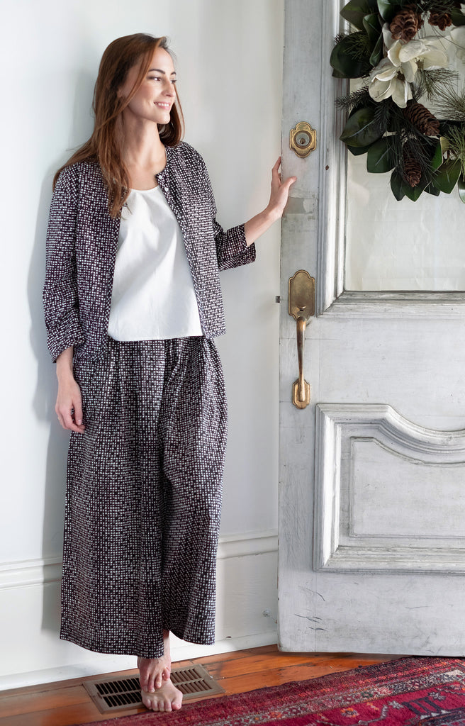 Culottes in Black Check