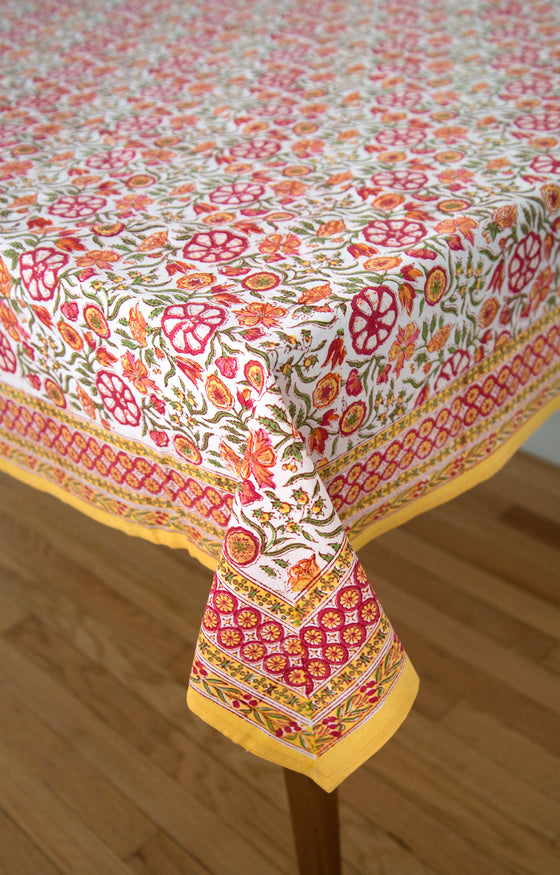 Table Linens in Blazing Garden