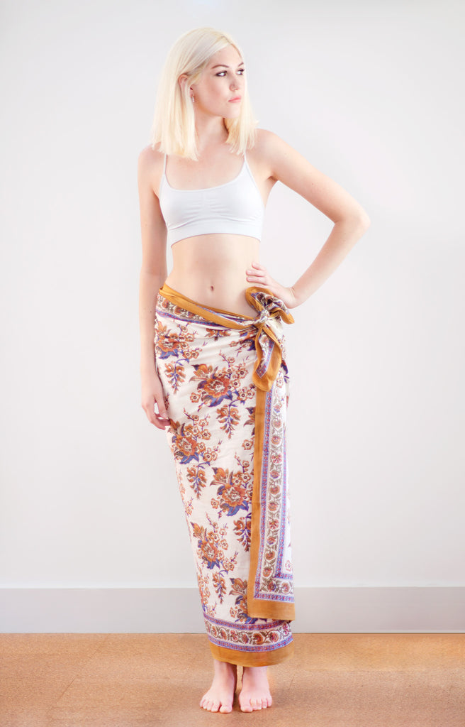 Sarong in Blossoms Sienna