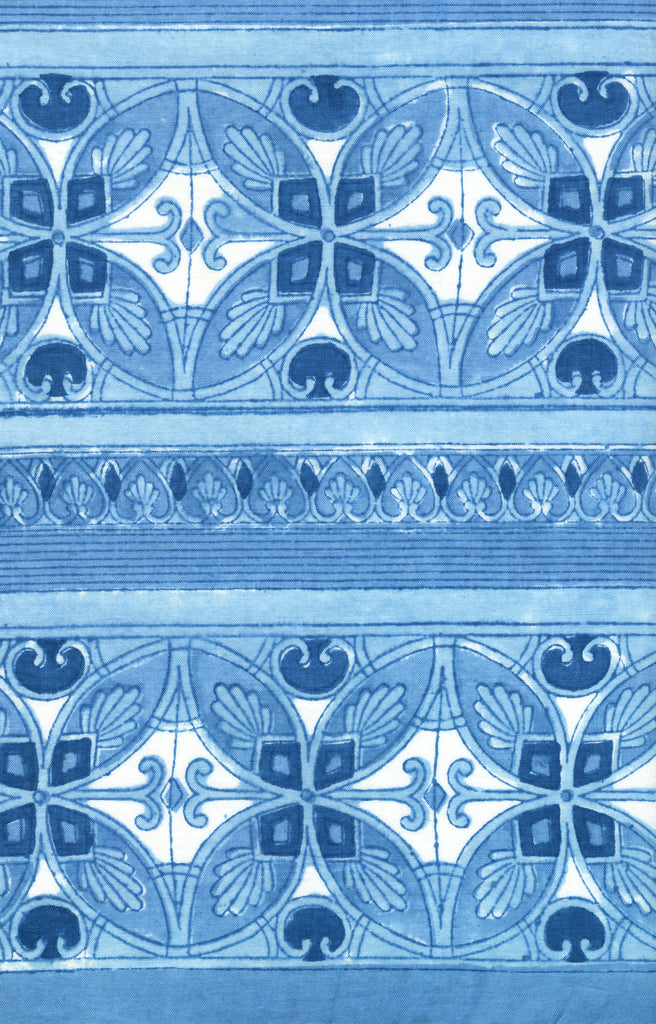 Scarf in Blue Mosaic