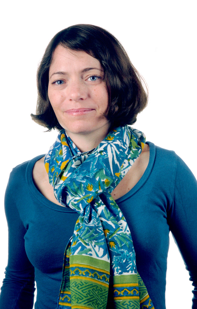 Scarf in Blue Parrot