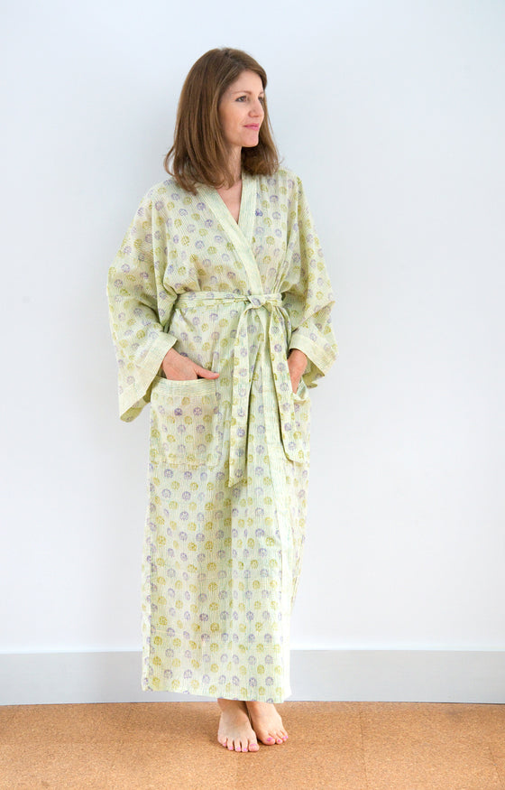Long Kimono in Blueberry Hill