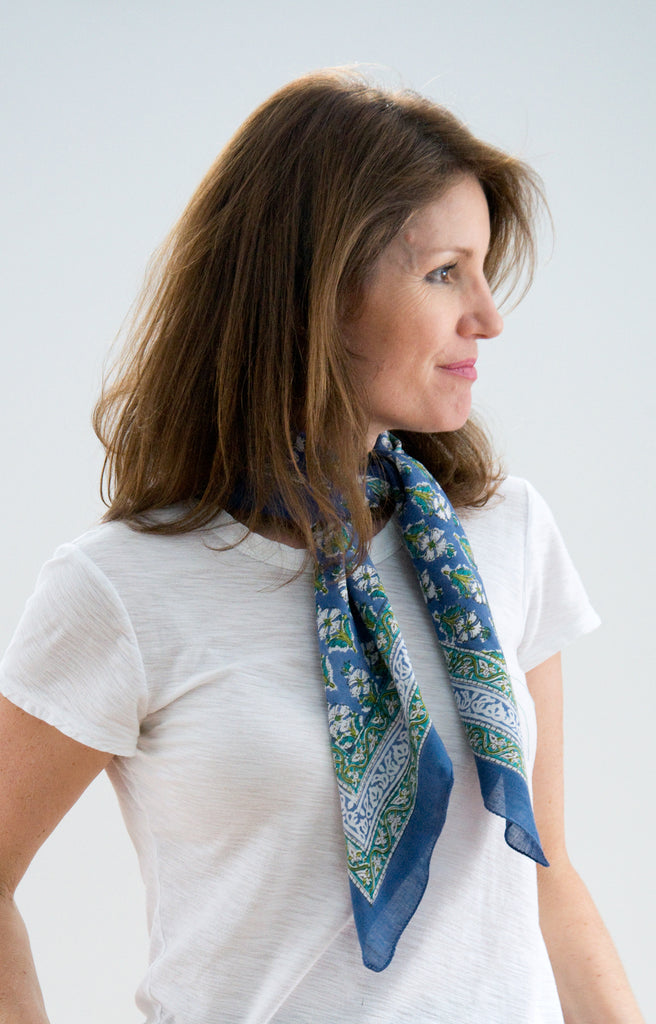 Scarf in Botanical Blue