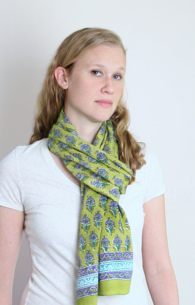 Scarf in Botanical Lime