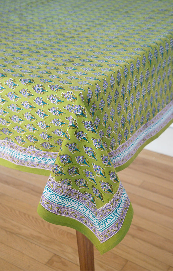 Table Linens in Botanical Lime