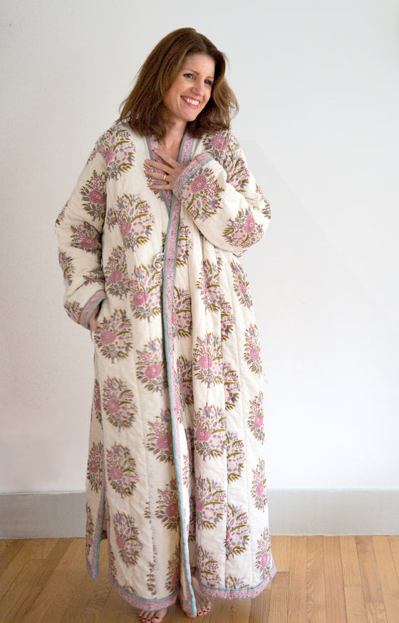 Quilted Robe in Bouquet