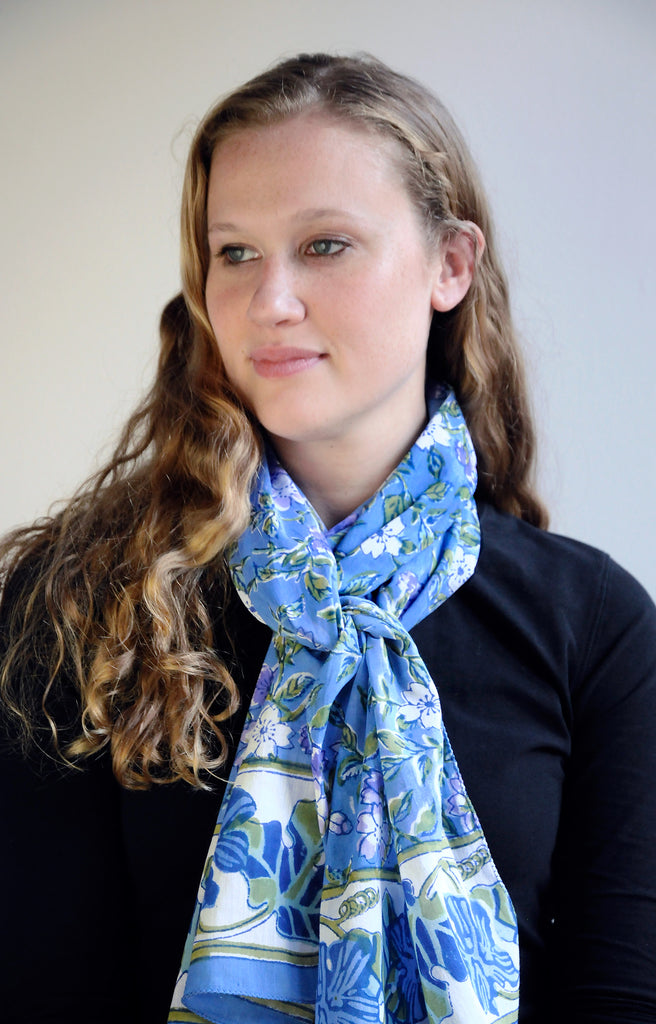 Scarf in Bramble Blue