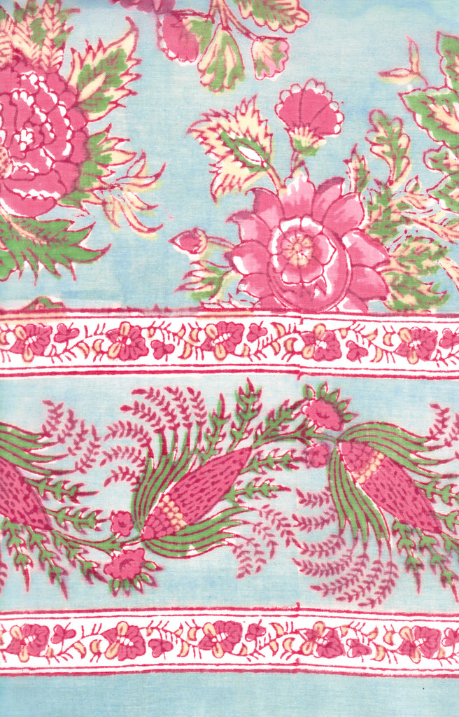Table Linens in Briar Rose Aqua