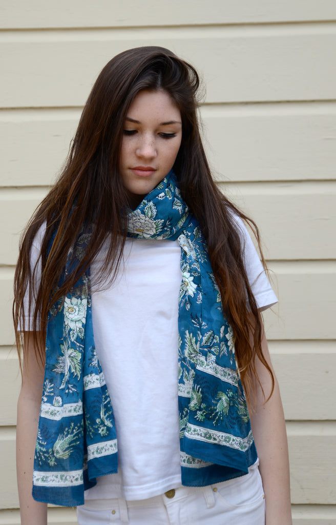 Scarf in Briar Rose Blue
