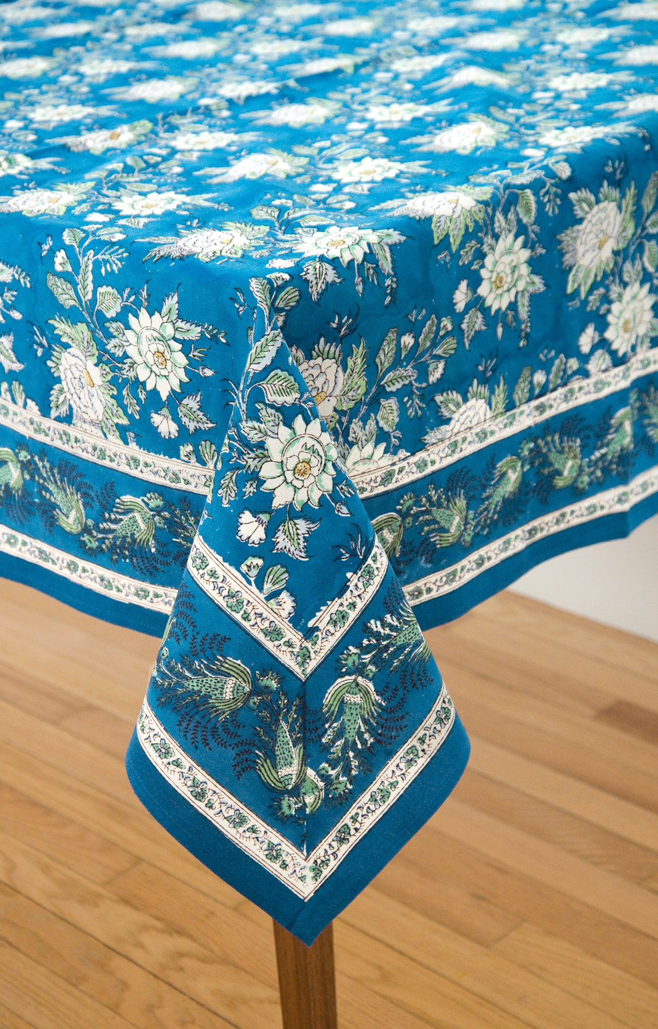Table Linens In Briar Rose Blue
