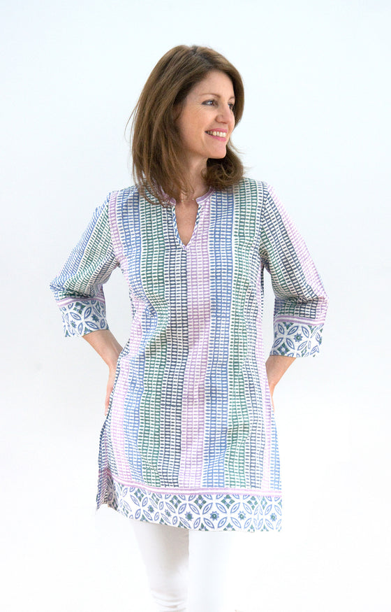 Straight Tunic in Candle Stripe