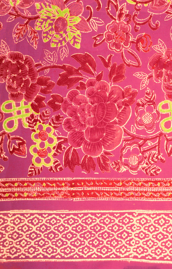 Scarf in China Pink