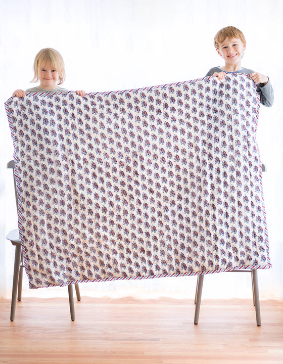Baby Quilt in Circus Elephants