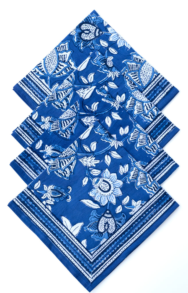 Table Linens in Cobalt Blue