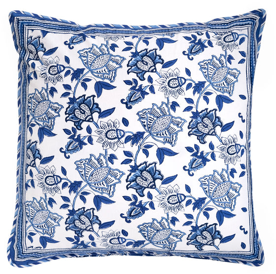 Cushion Covers in Cobalt on White