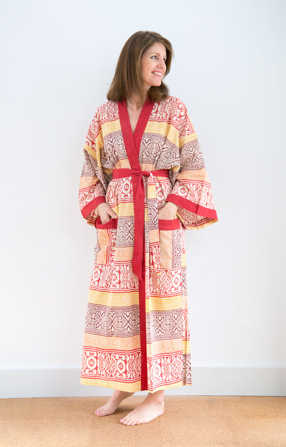 Long Kimono in Colored Sands