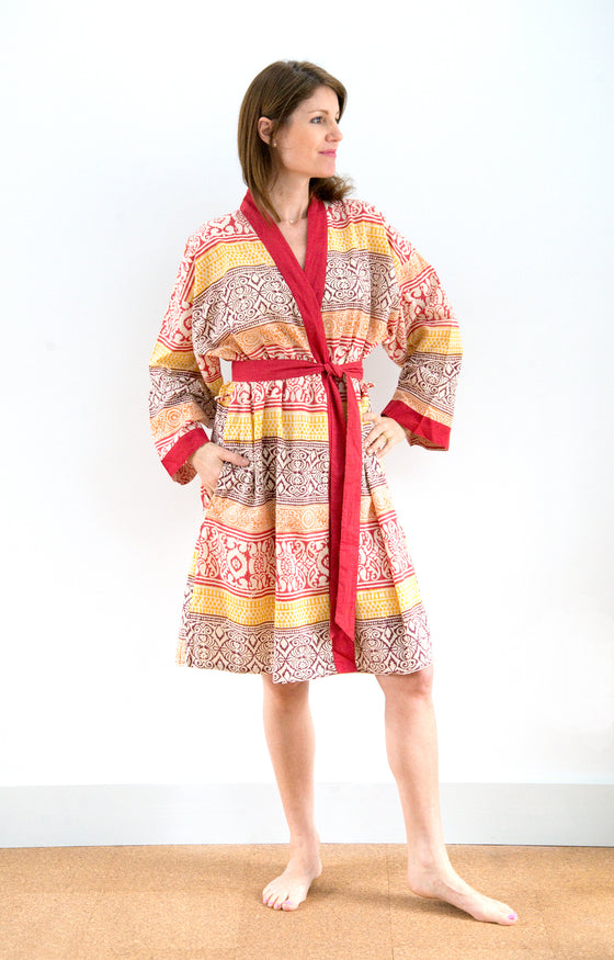 Short Kimono in Colored Sands