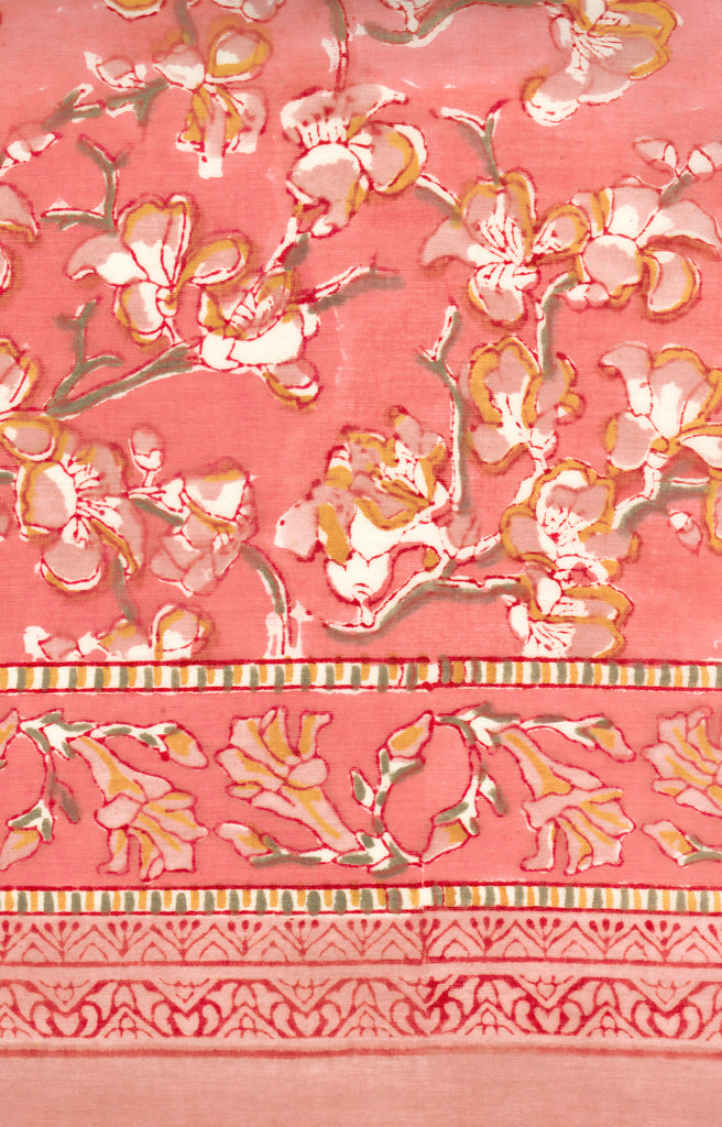 Table Linens in Coral Blossom
