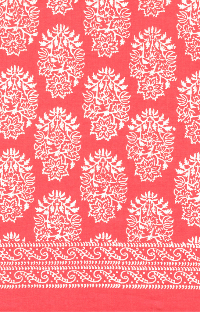Baby Quilt in Coral Motif