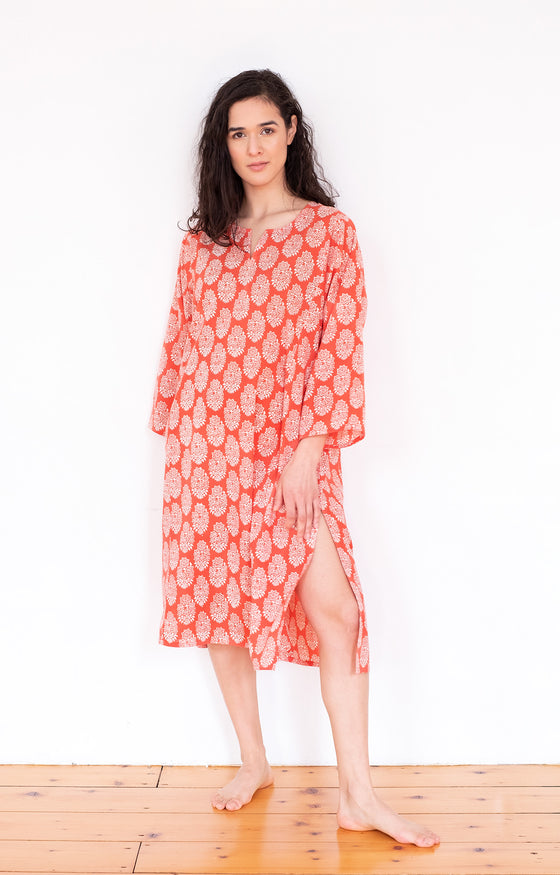 Classic Tunic in Coral Motif