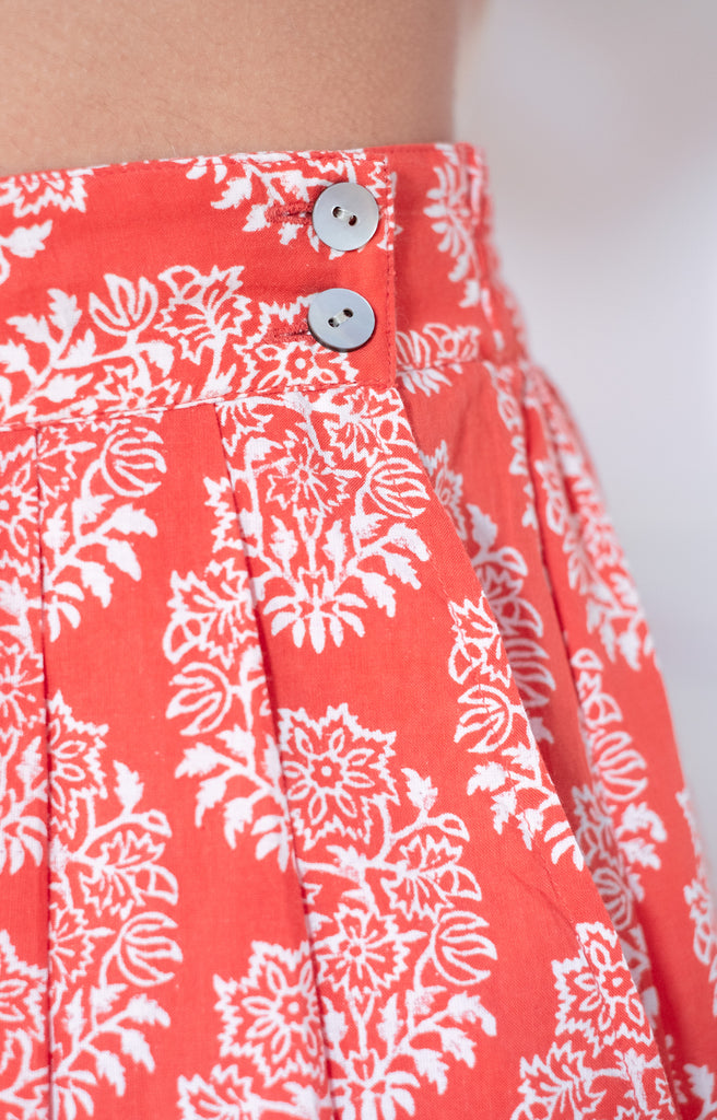 Culottes in Coral Motif