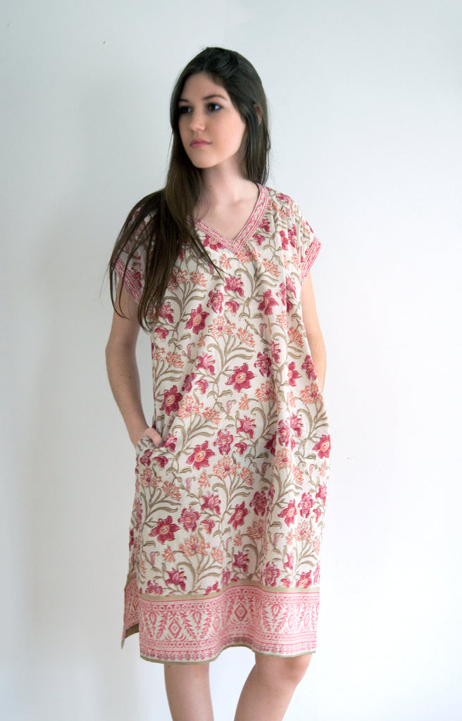 Nightie in Coral Thistle