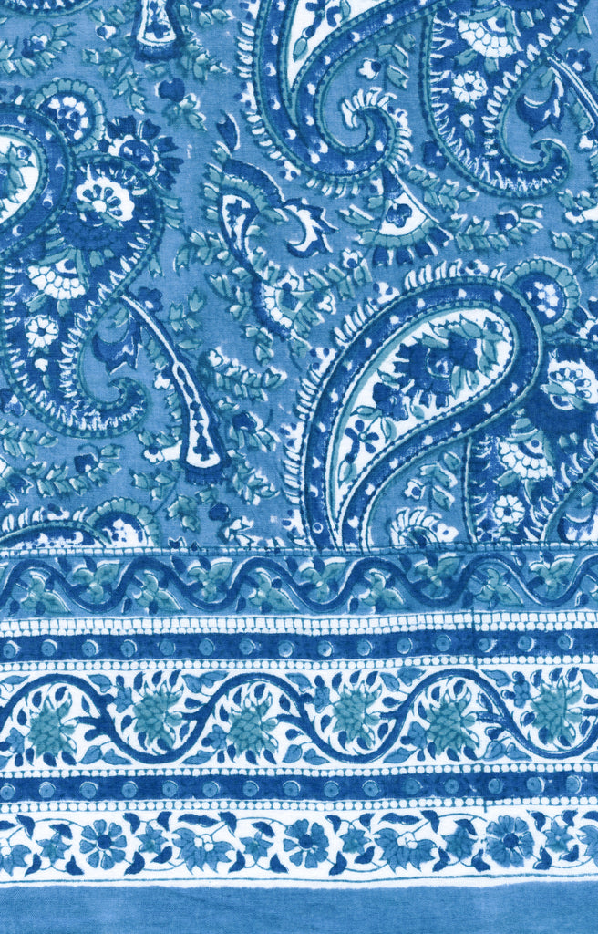 Scarf in Denim Paisley
