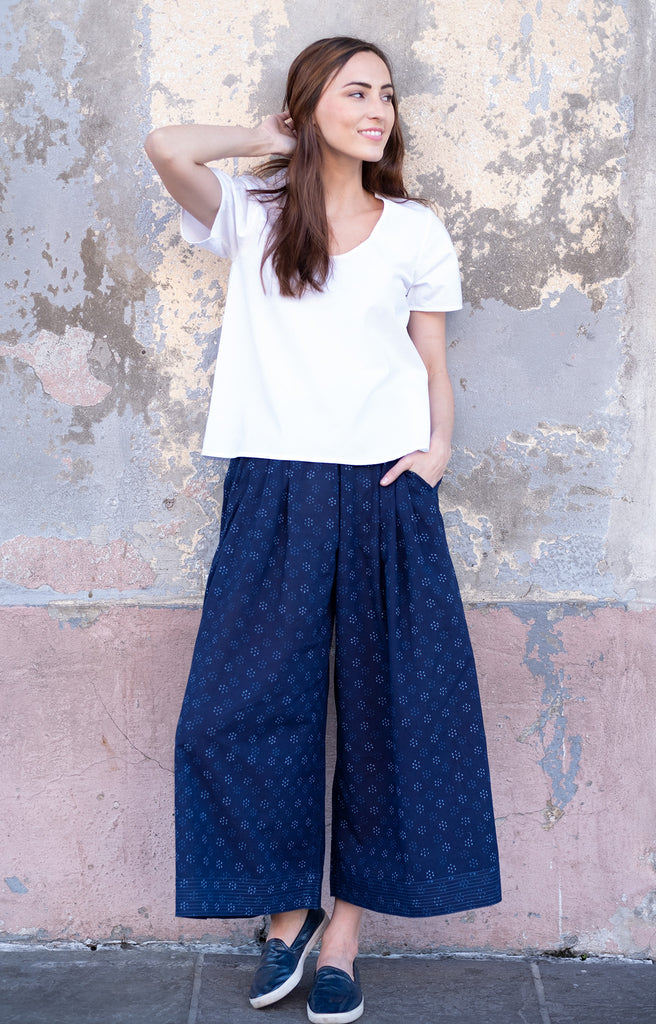 Culottes in Dot Flower