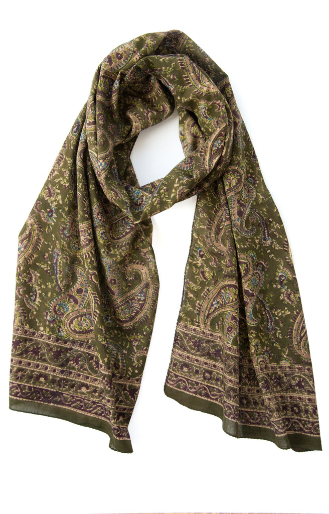 Scarf in Double Paisley