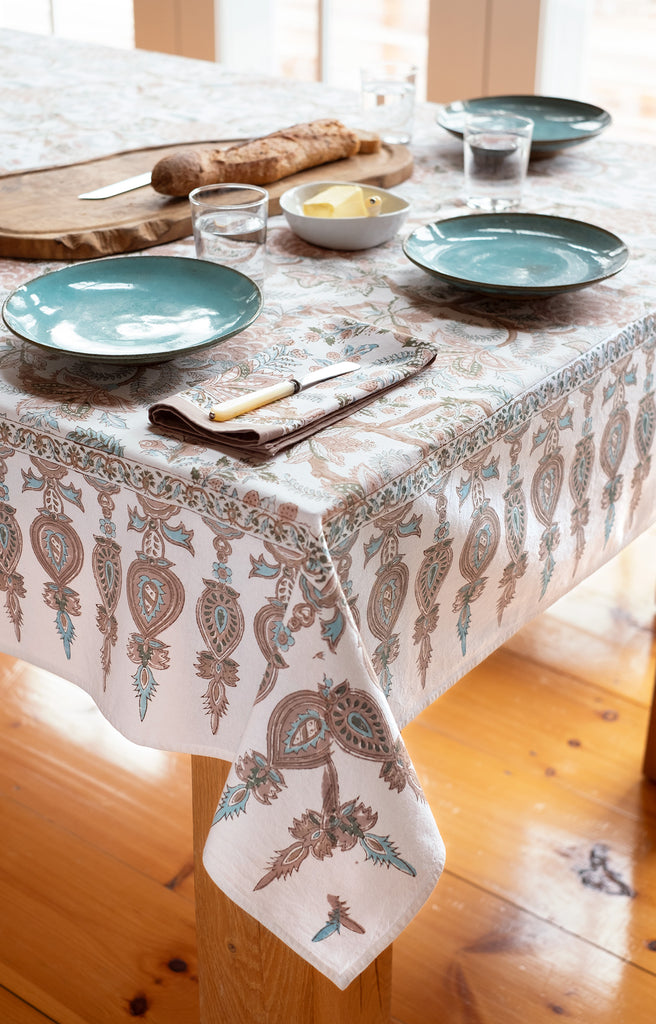 Table Linens in Earth Chintz