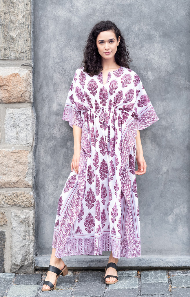Drawstring Kaftan in Empress