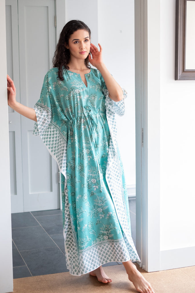 Drawstring Kaftan in English Garden