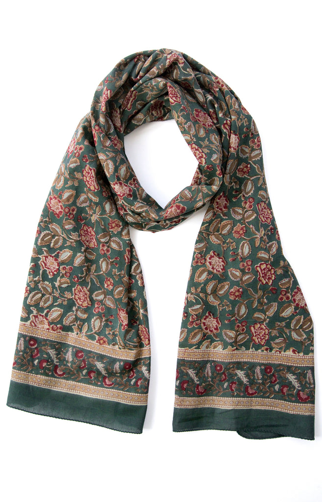 Scarf in Fall Flowers