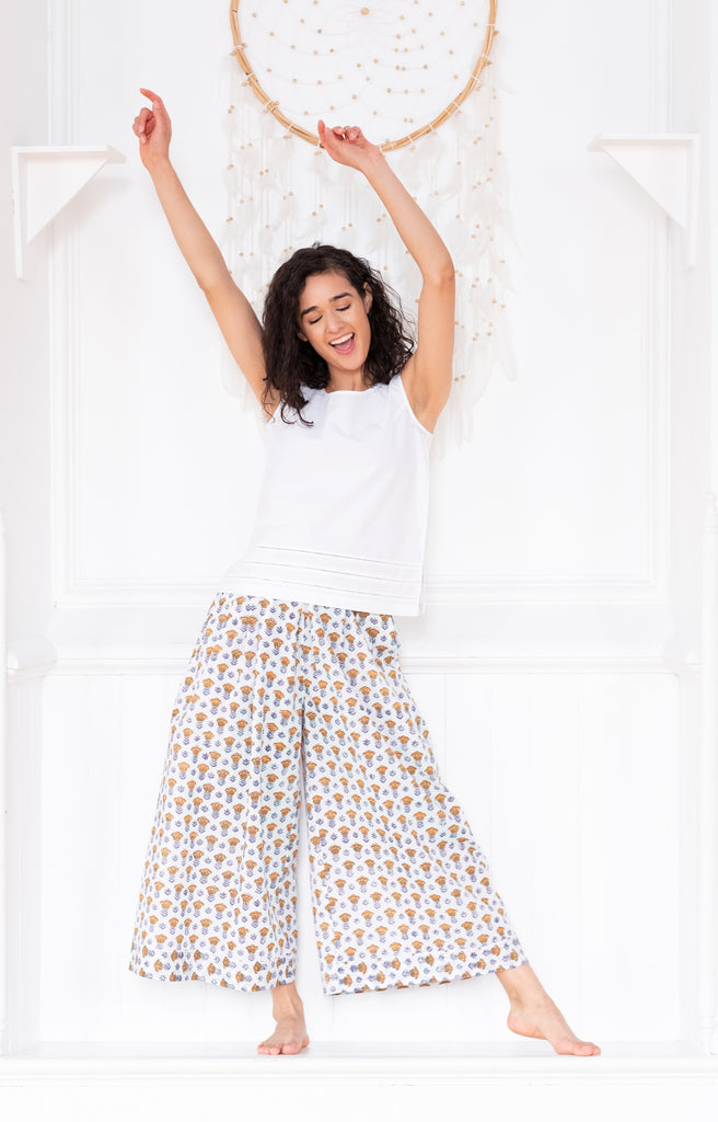 Culottes in Gold Tulip