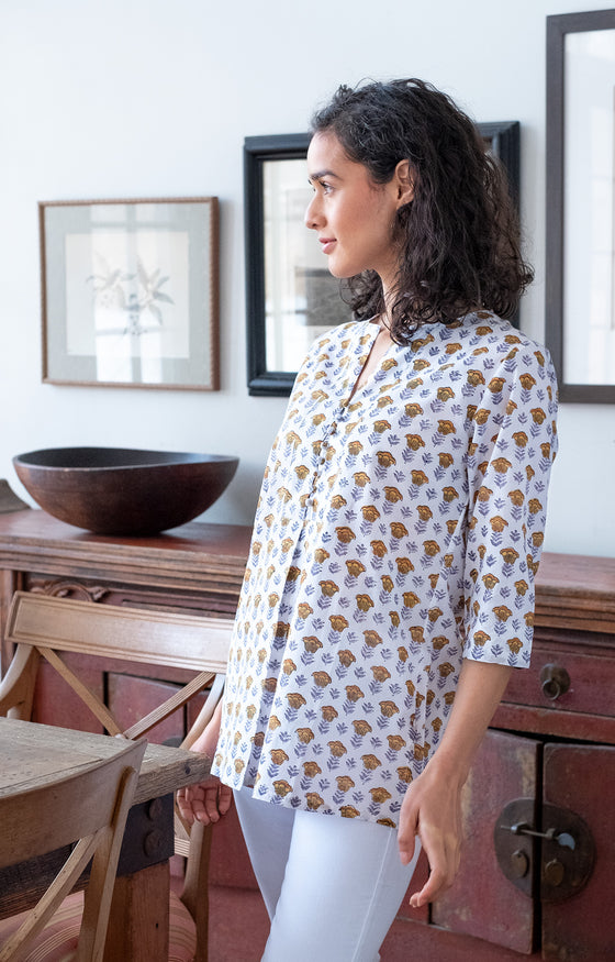 Easy Blouse in Gold Tulip