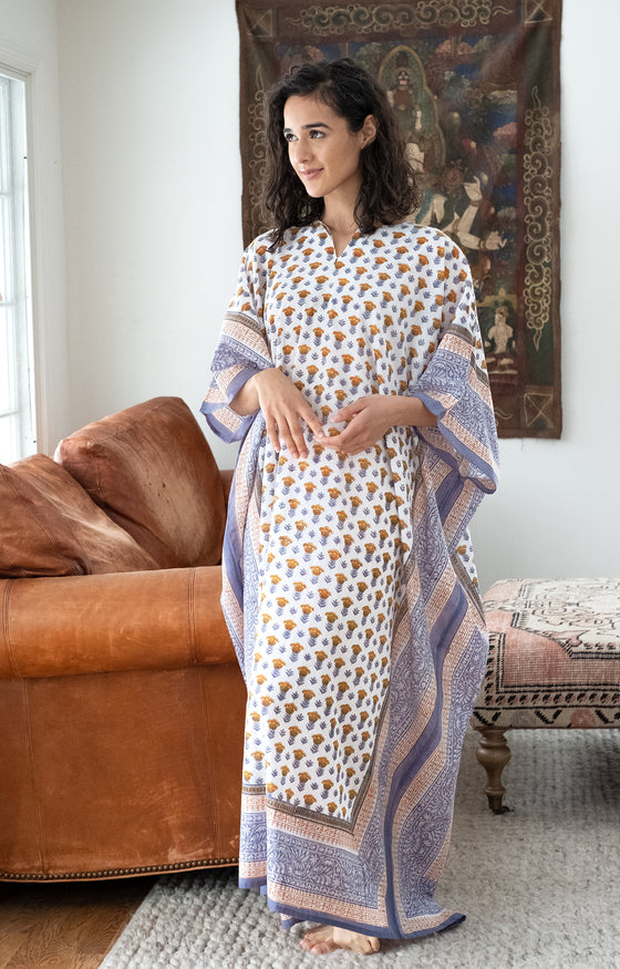 Kaftan in Gold Tulip