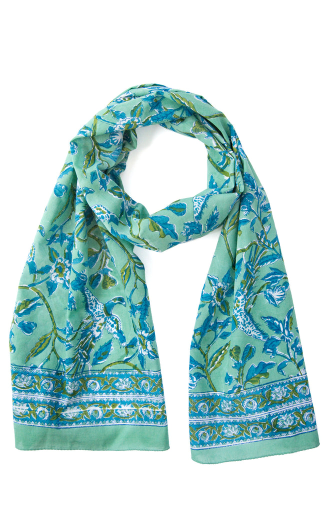 Scarf in Green Phoenix