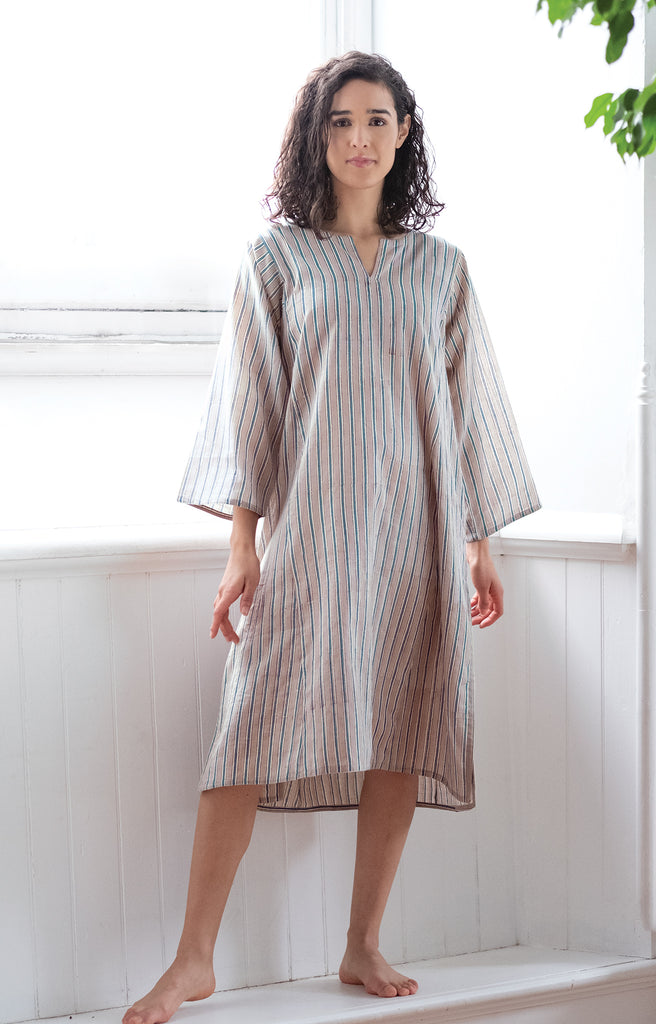 Classic Tunic in Grey Stripe