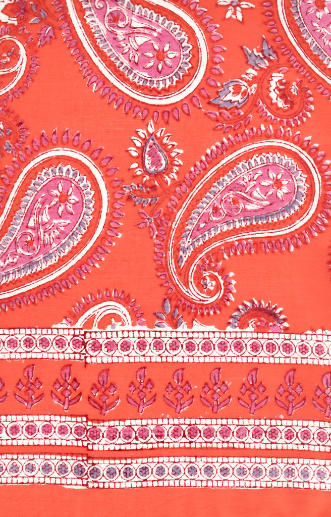 Bias Tunic in Hot Paisley