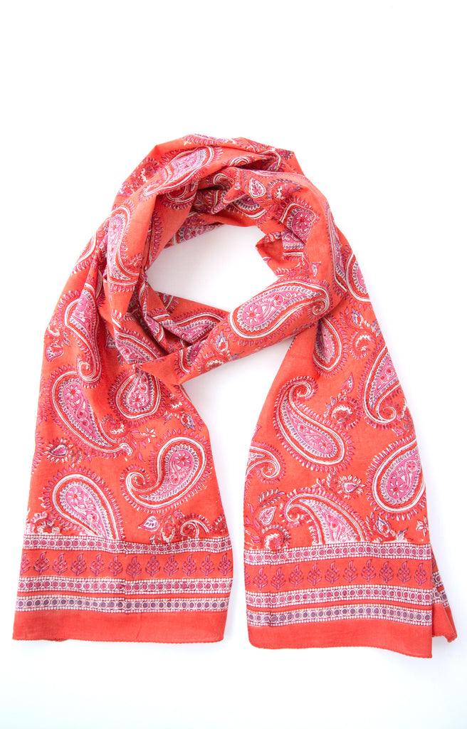 Scarf in Hot Paisley