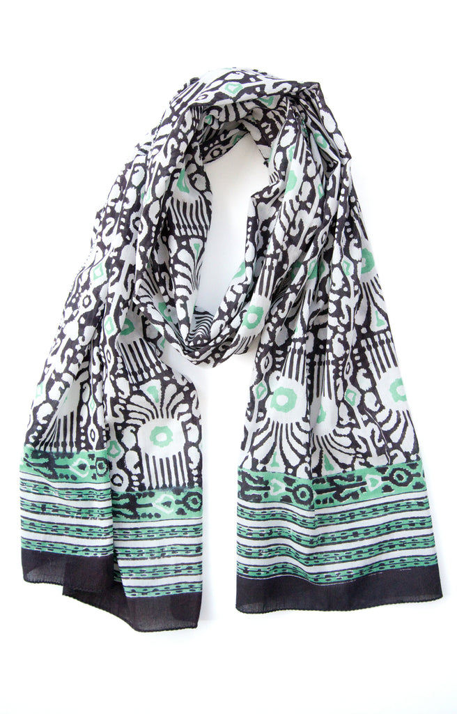 Scarf in Ikat